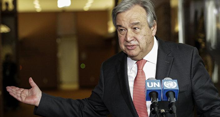 Antonio Guterres speaking at the UN headquarters in New York. (File)