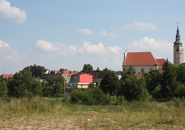 Panorama of the city Lubomierz (view from the north)