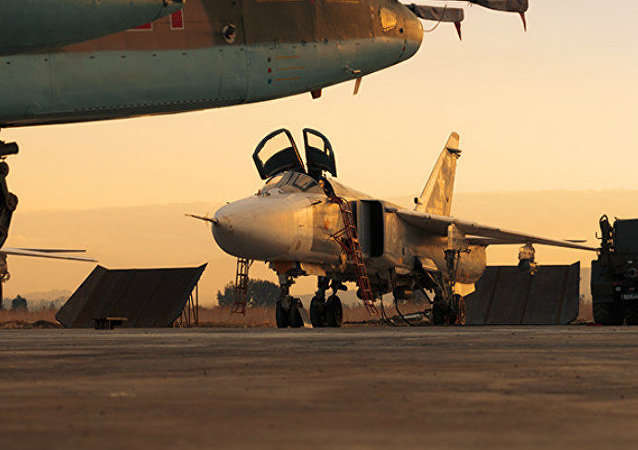 Russian jets at the Hmeymim airbase in Syria. file photo