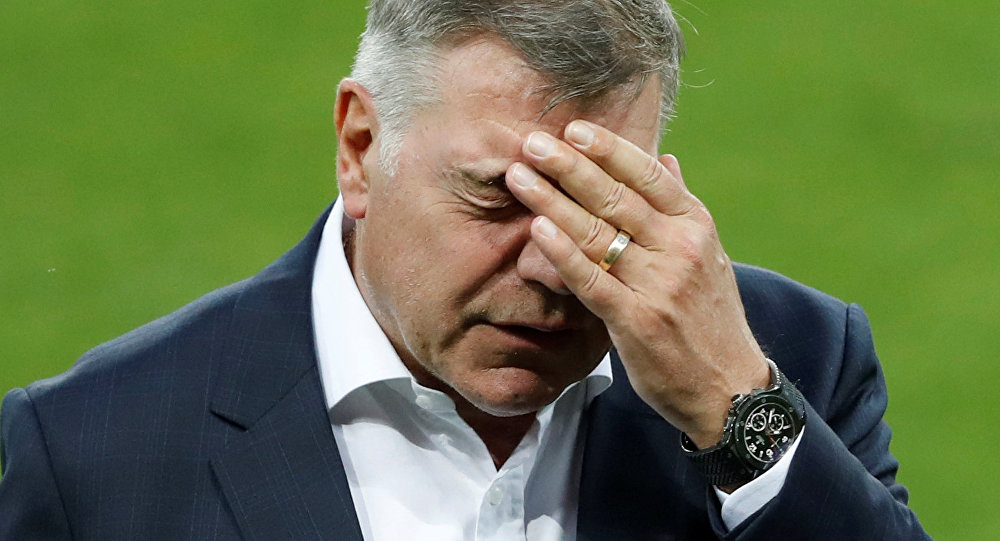 Football Soccer - England Stadium Visit - City Arena, Trnava, Slovakia - 3/9/16 England manager Sam Allardyce during the stadium visitAction.