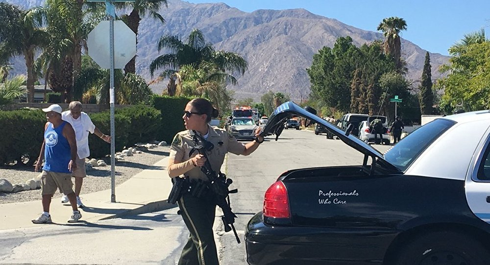 Palm Springs police officer responds to deadly shooting incident that left 2 cops dead