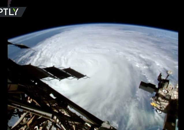 The view of Hurricane Matthew from aboard the ISS