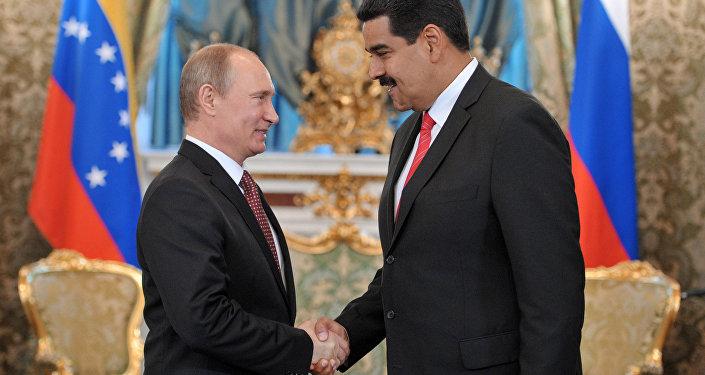 Russian President Vladimir Putin meets in the Kremlin with Nicolas Maduro
