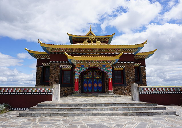 Buddhist temple near the city of Minas in Uruguay