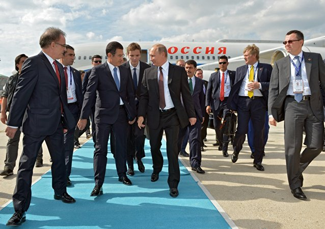 October 10, 2016. Russian President Vladimir Putin during a welcoming ceremony at Istanbul Ataturk International Airport