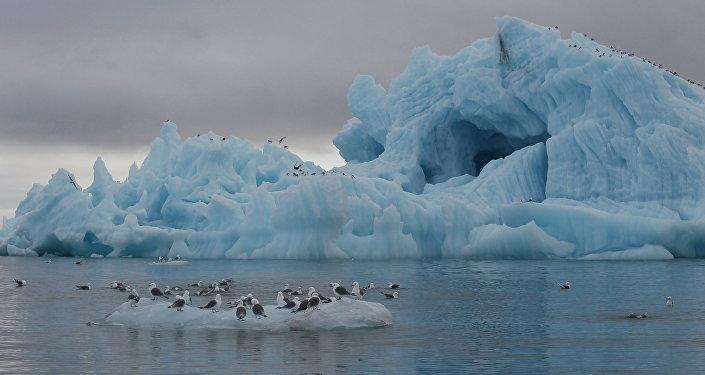 Iceberg near Hooker Island, Franz Josef Land, Russia