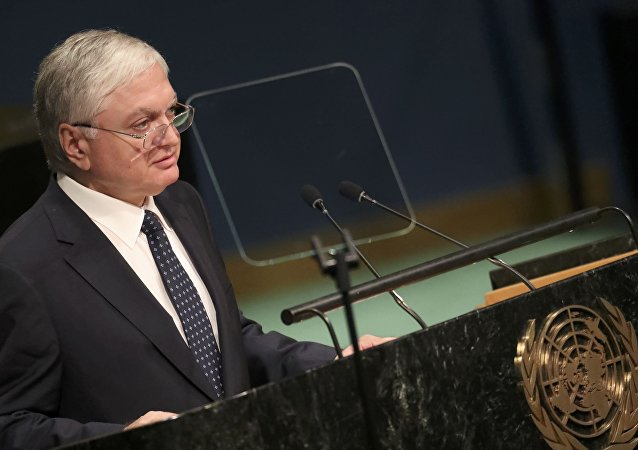 Armenian Foreign Minister Edward Nalbandian addresses the 71st United Nations General Assembly in the Manhattan borough of New York, U.S., September 23, 2016.