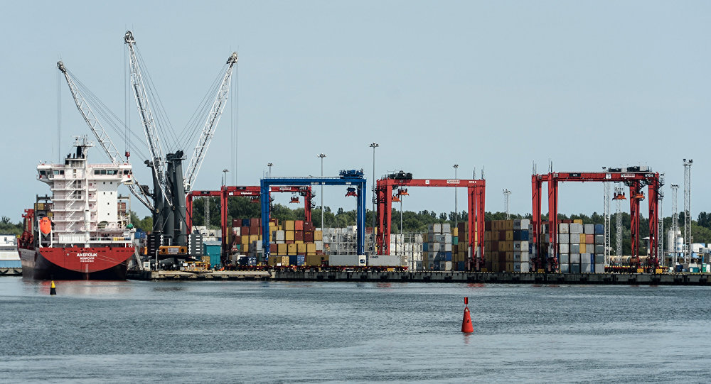 A commercial terminal at the Baltiysk Port, Kaliningrad region.