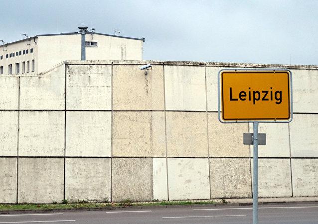 The prison in Leipzig, eastern Germany