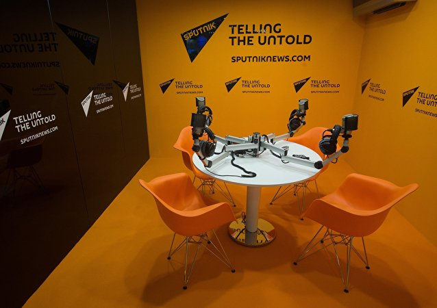 Sputnik International Information Agency stand