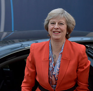 Britain's Prime Minister Theresa May arrives at the EU summit in Brussels, Belgium, October 21, 2016.