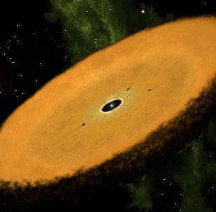 Artists concept of the circumstellar disk in the Carina association