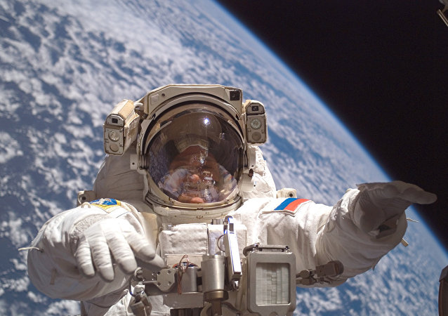 Cosmonaut Fyodor Yurchikhin participates in a session of extravehicular activity (File photo)