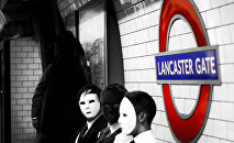 People wearing masks on the London underground