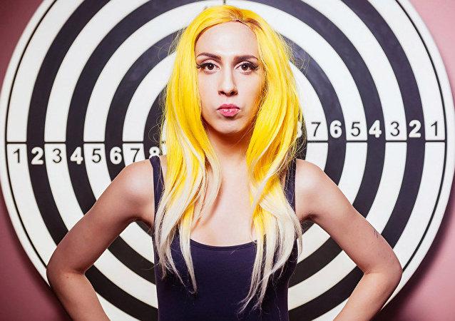 Alexandra Guseva aka Lady Sasha, a Lady Gaga look-a-like from Russia