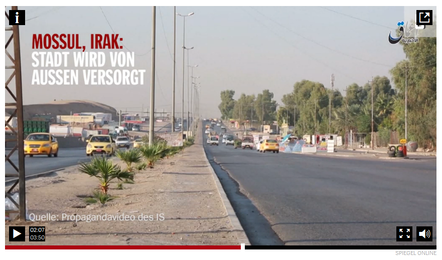 Picture of Mosul in Spiegel Online video