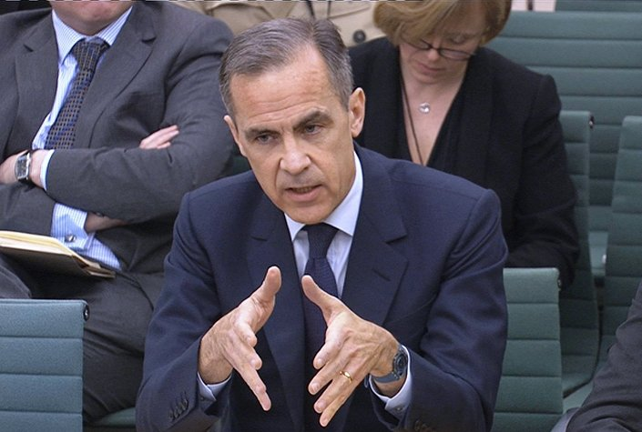 A still image from video shows Bank of England Governor Mark Carney speaking to members of Britain's parliament about the country's membership of the European Union, in London, Britain March 8, 2016.