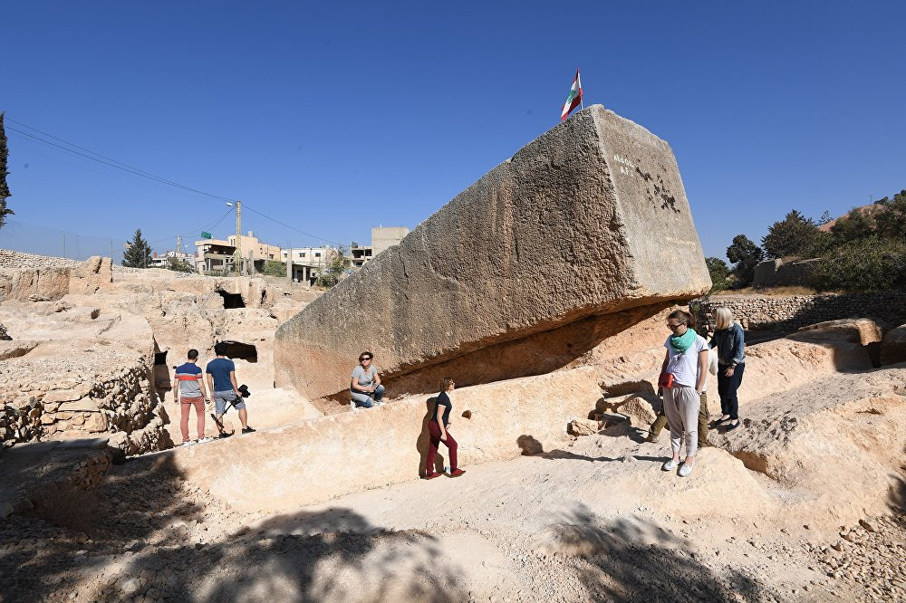 The Stone of the South — a megalithic stone lying in Baalbek, Lebanon
