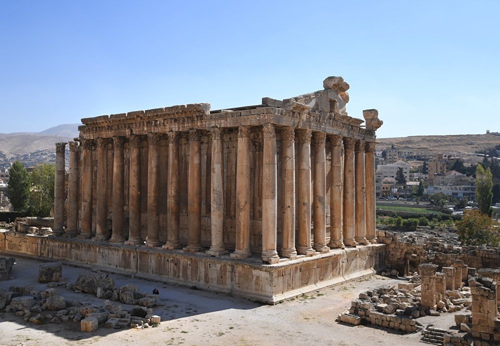 The Temple of Mercury in the temple complex in Baalbek, Lebanon.