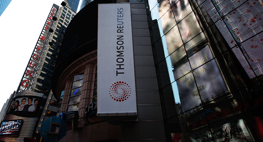 The logo of Thomson Reuters (File)