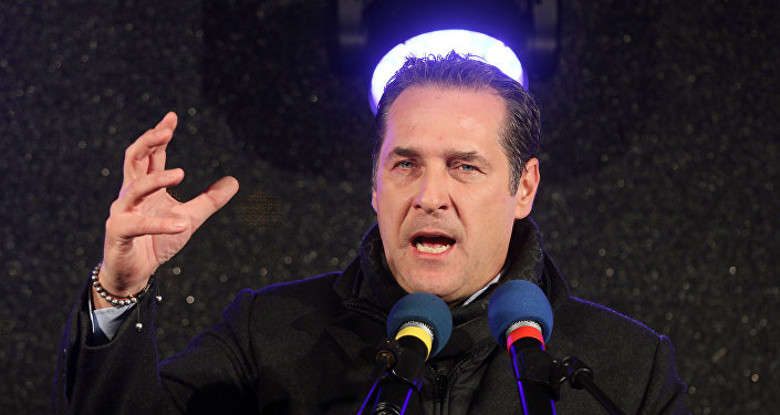 Heinz-Christian Strache head of Austria's Freedom Party (File)