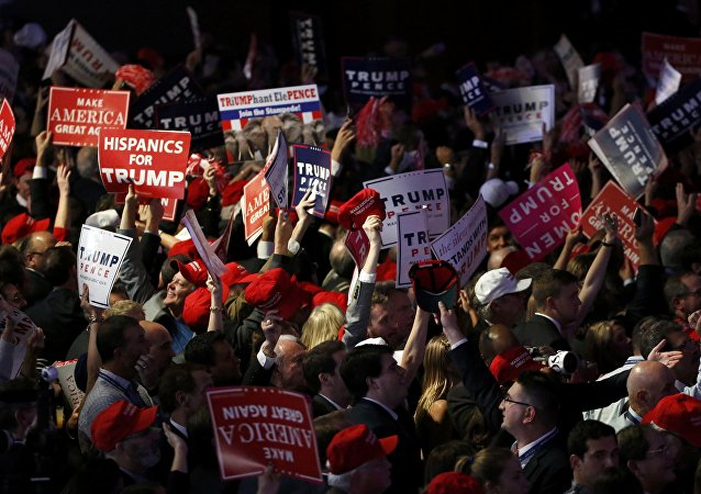 Trump supporters celebrate as election returns come in at Republican U.S. presidential nominee Donald Trump's election night rally in Manhattan, New York, U.S., November 8, 2016