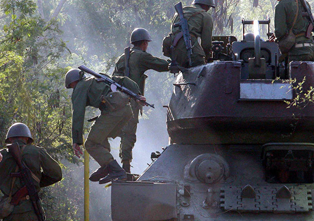 Cuban soldiers train East of Havana, Cuba