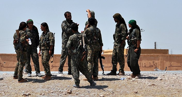 Fighters from the Kurdish People Protection Unit (YPG)