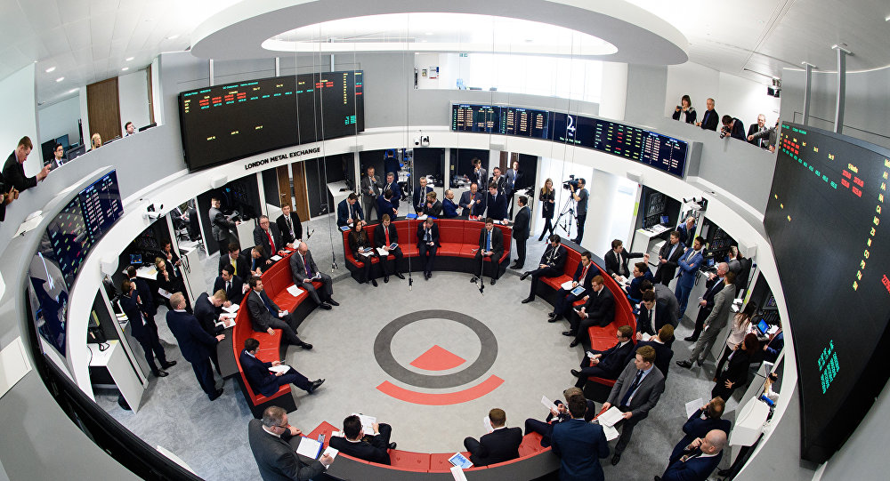 Traders operate in the Ring, the open trading floor of the new London Metal Exchange (LME) in central London. (File)