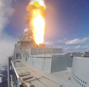 Admiral Grigorovich frigate launches Kalibr missiles on terrorist targets in Syria