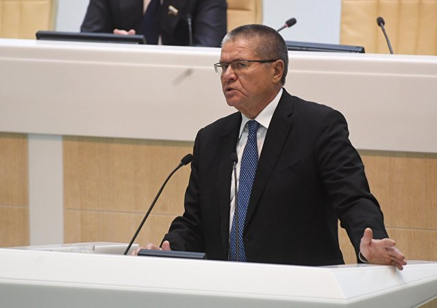 Minister for Economic Development Alexei Ulyukayev speaks at a Federation Council meeting. (File)