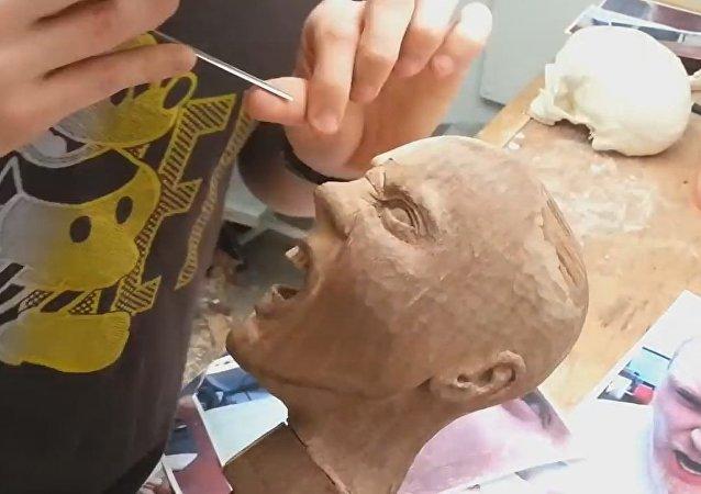 Wood Sculpture Time-lapse; Hildr