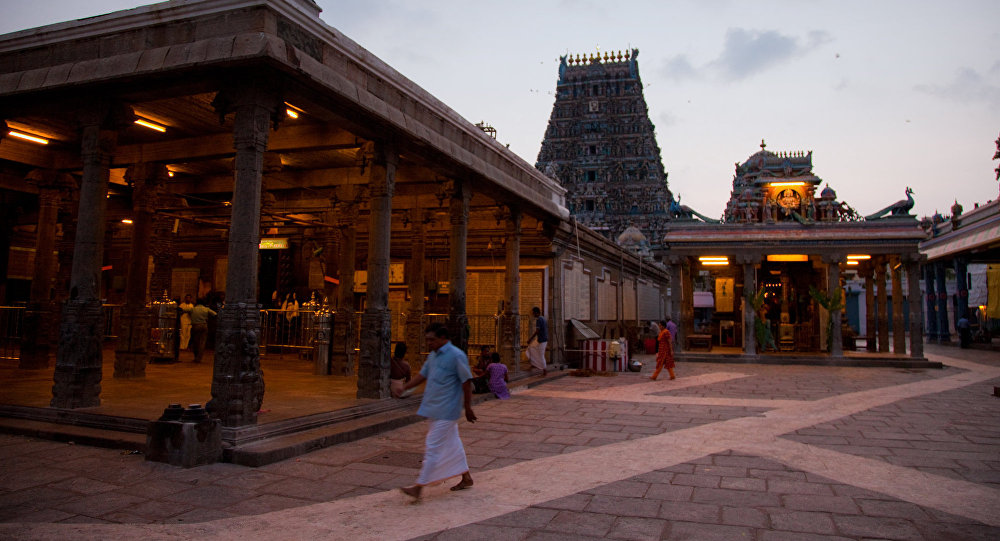 A view of Kapaleeswarar Temple, Chennai, India.