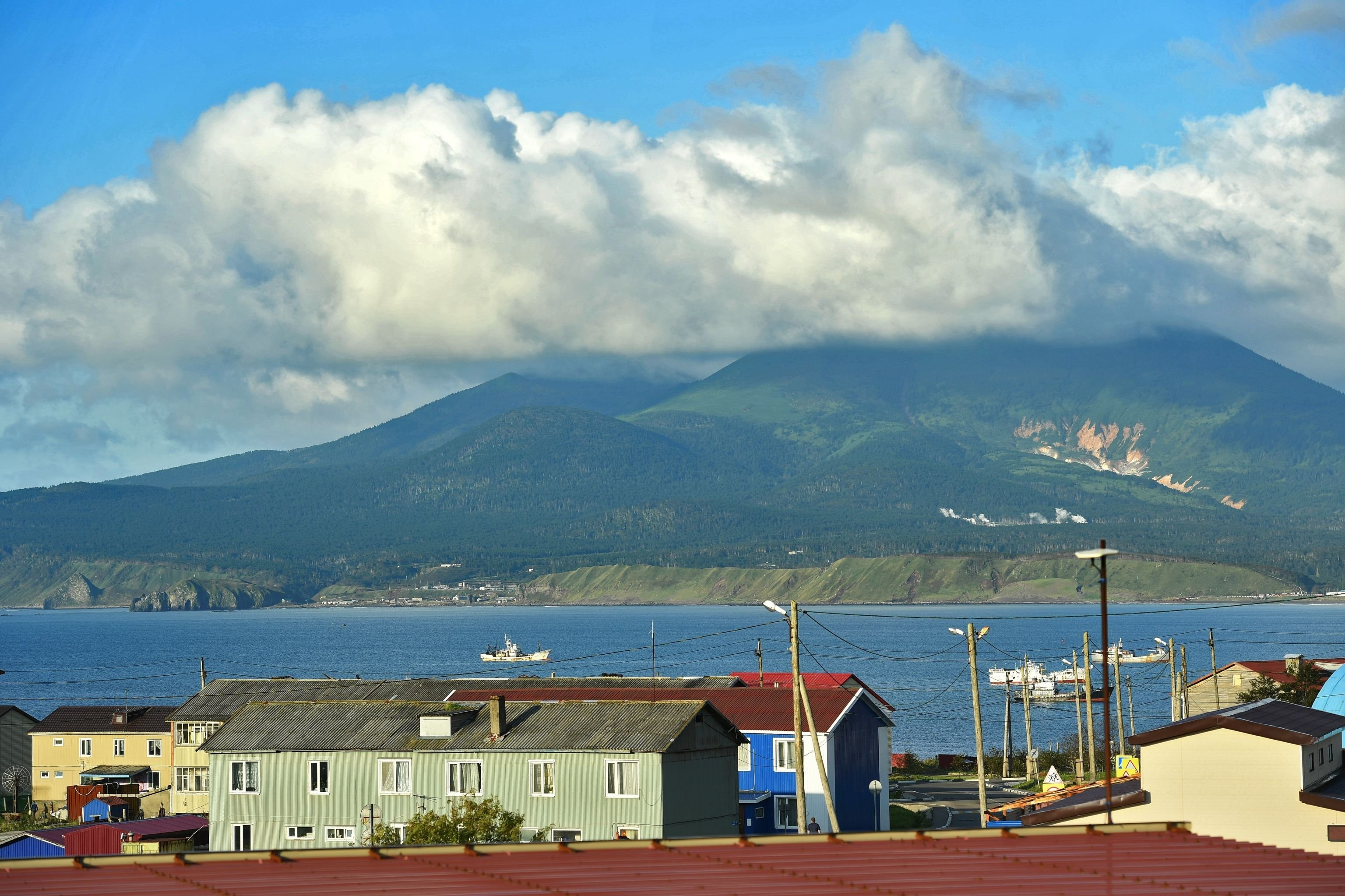 Yuzhno-Kurilsk village on Kunashir Island