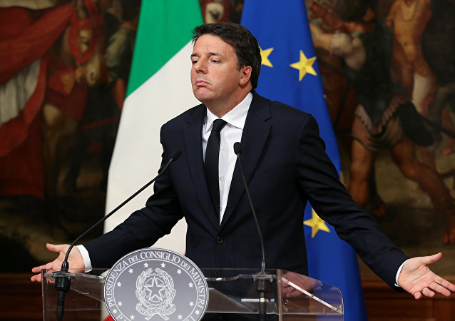 Italian Prime Minister Matteo Renzi leads a news conference to mark his 1000 days in government in Rome, Italy, November 18, 2016