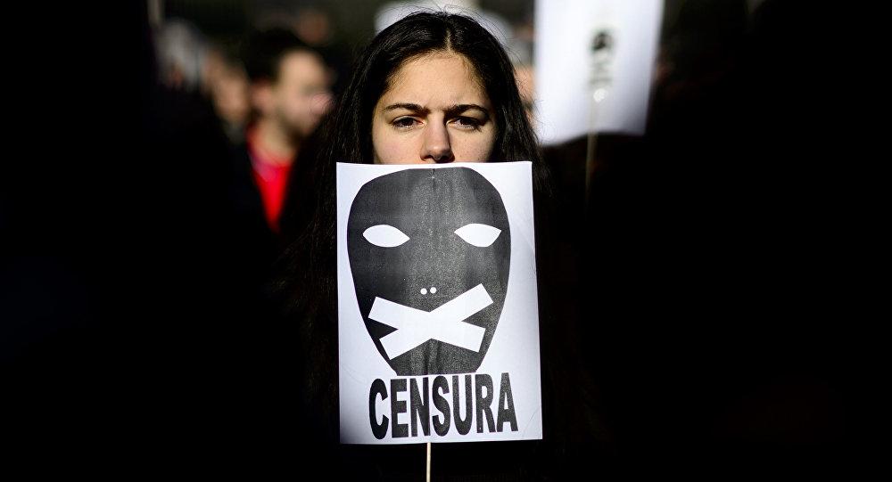 Protest against censorship