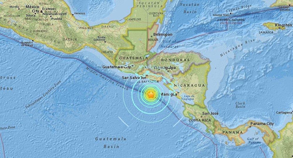 Quake Hits Off Central America Pacific Coast Hazardous Tsunami Possible