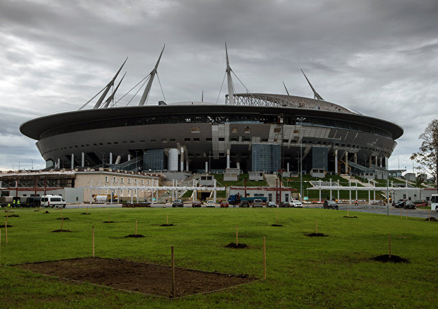 Zenit Arena under construction in St. Petersburg. File photo