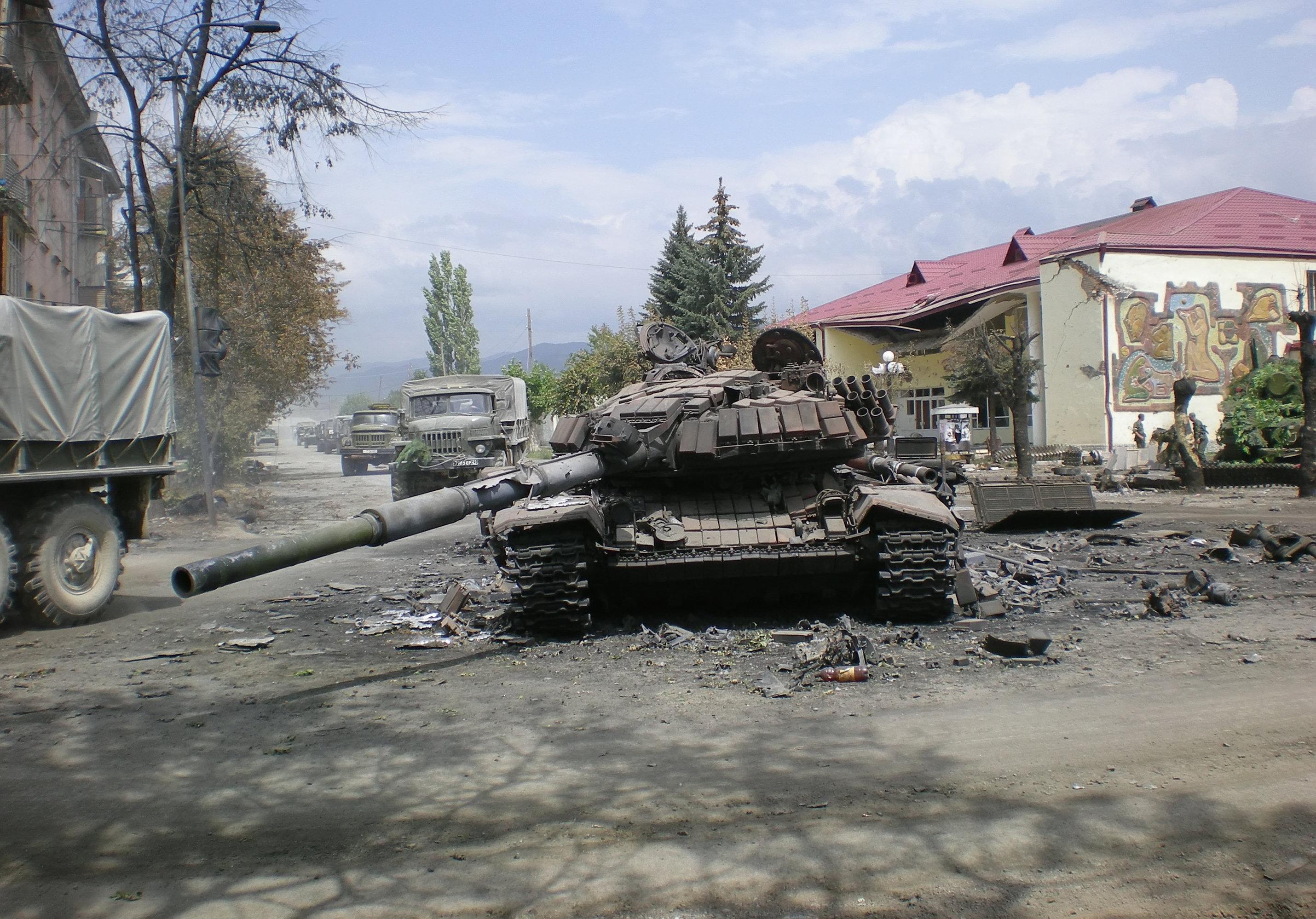 Tskhinvali, South Ossetia, August 2008