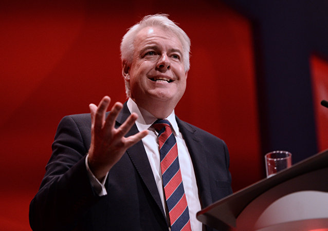 British Labour party politician and First Minister of Wales, Carwyn Jones attends the first day of the annual Labour Party conference in Liverpool, north west England on September 25, 2016