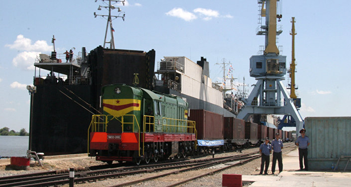 The port of Olya, Astrakhan Region, is the destination of the international transport corridor North-South in Russia.