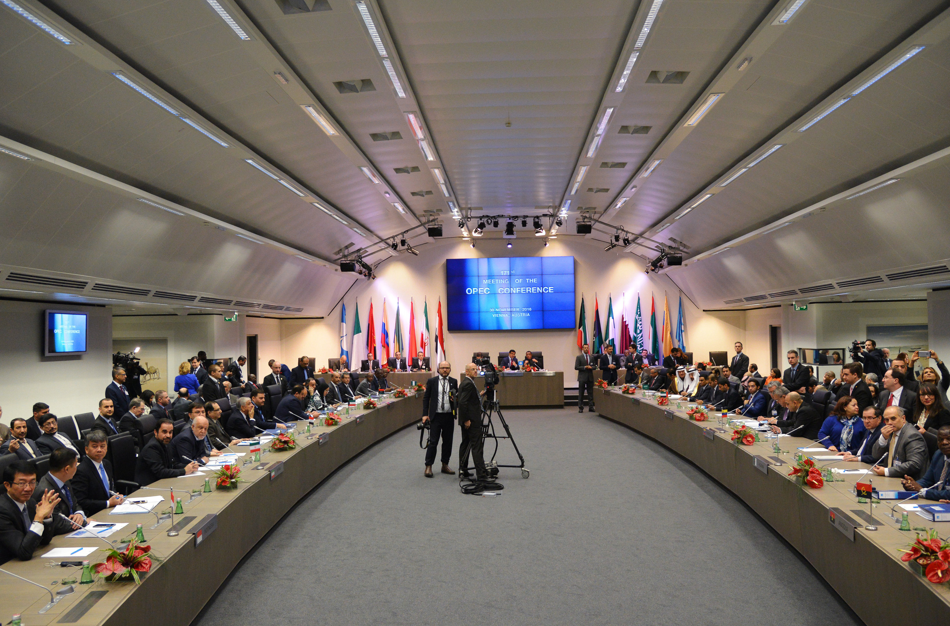 A meeting of the Organization of the Petroleum Exporting Countries (OPEC) in Vienna.File photo