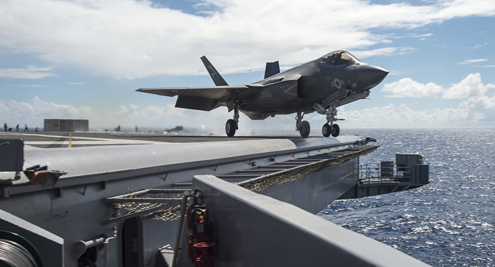 An F-35C Lightning II carrier variant joint strike fighter assigned to the Salty Dogs of Air Test and Evaluation Squadron (VX) 23 launches off the flight deck of the aircraft carrier USS Dwight D. Eisenhower (CVN 69).