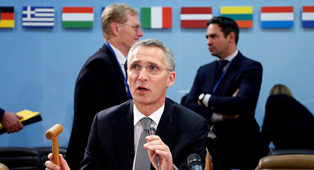 NATO Secretary-General Jens Stoltenberg chairs a NATO defence ministers meeting at the Alliance headquarters in Brussels.
