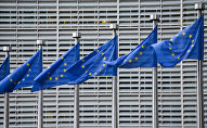 European Union flags in front of the European Commission headquarters in Brussels. (File)
