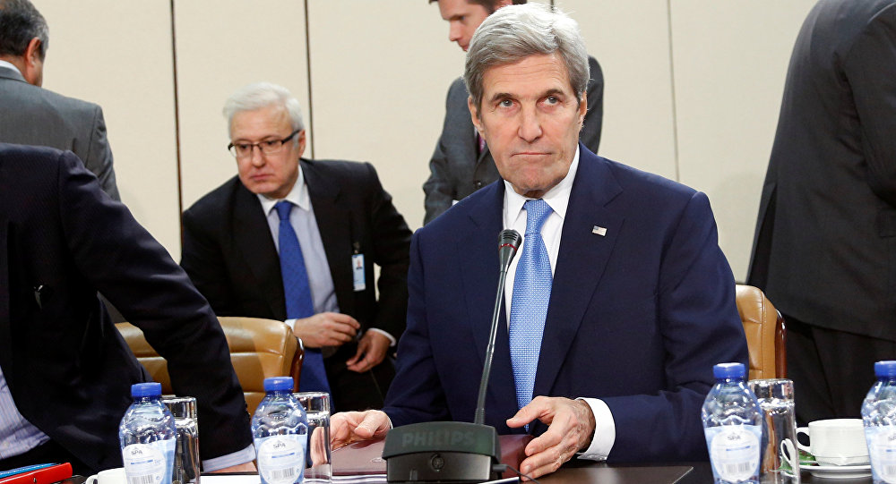 US Secretary of State John Kerry attends a meeting of NATO foreign ministers at the Alliance headquarters in Brussels, Belgium, December 6, 2016.