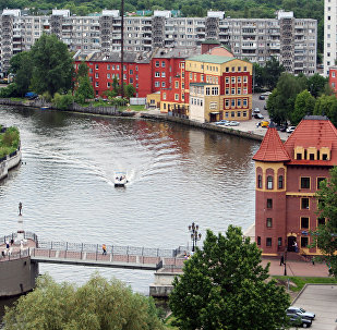 A view of Kaliningrad and the Pergola River. (File)