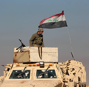 An Iraqi soldier stands atop an armoured vehicle in the town of Tal Abtah, south of Tal Afar, on December 10, 2016, after they retook the area during a broad offencive to retake the city of Mosul from Islamic State (IS) jihadists