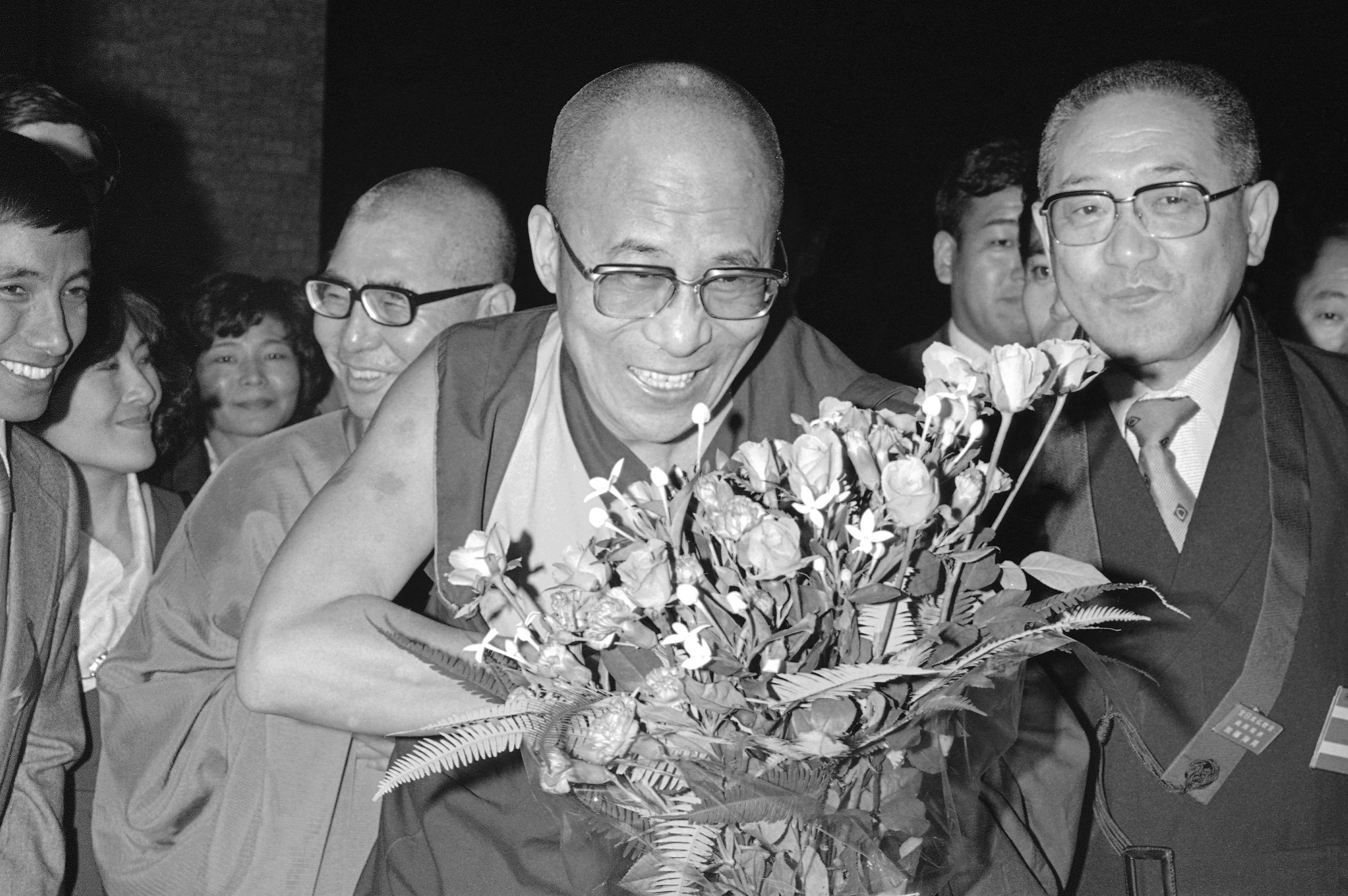 The Dalai Lama dedicated a new Tibetan Buddhist gompa (temple) in the Tibetan refugee school center in Mussorie, 125 miles north of New Delhi on April 23, 1964
