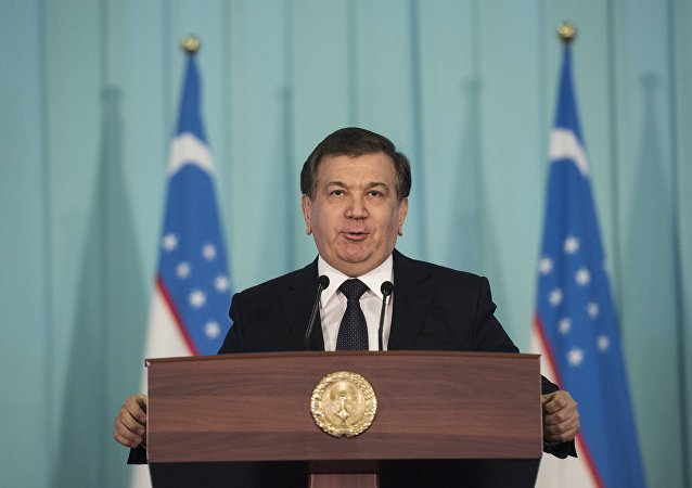 Shavkat Mirziyeyev, Prime Minister and acting President of Uzbekistan, who has won the presidential elections in Uzbekistan.